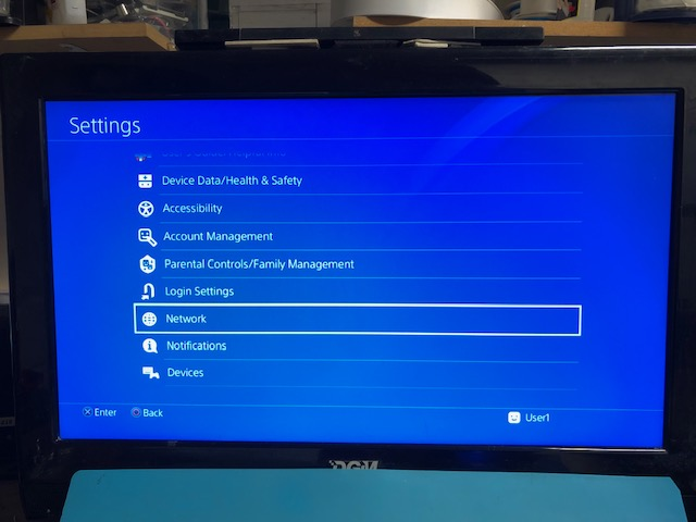 PS 4 connect to network